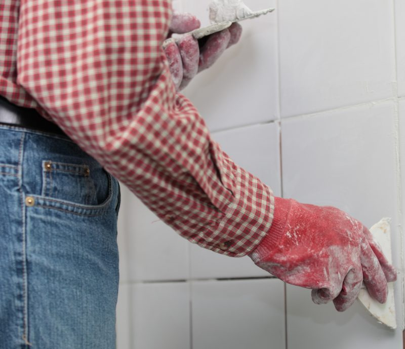 grouting wall tile