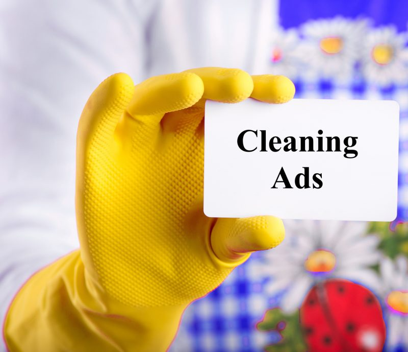 cleaning ads