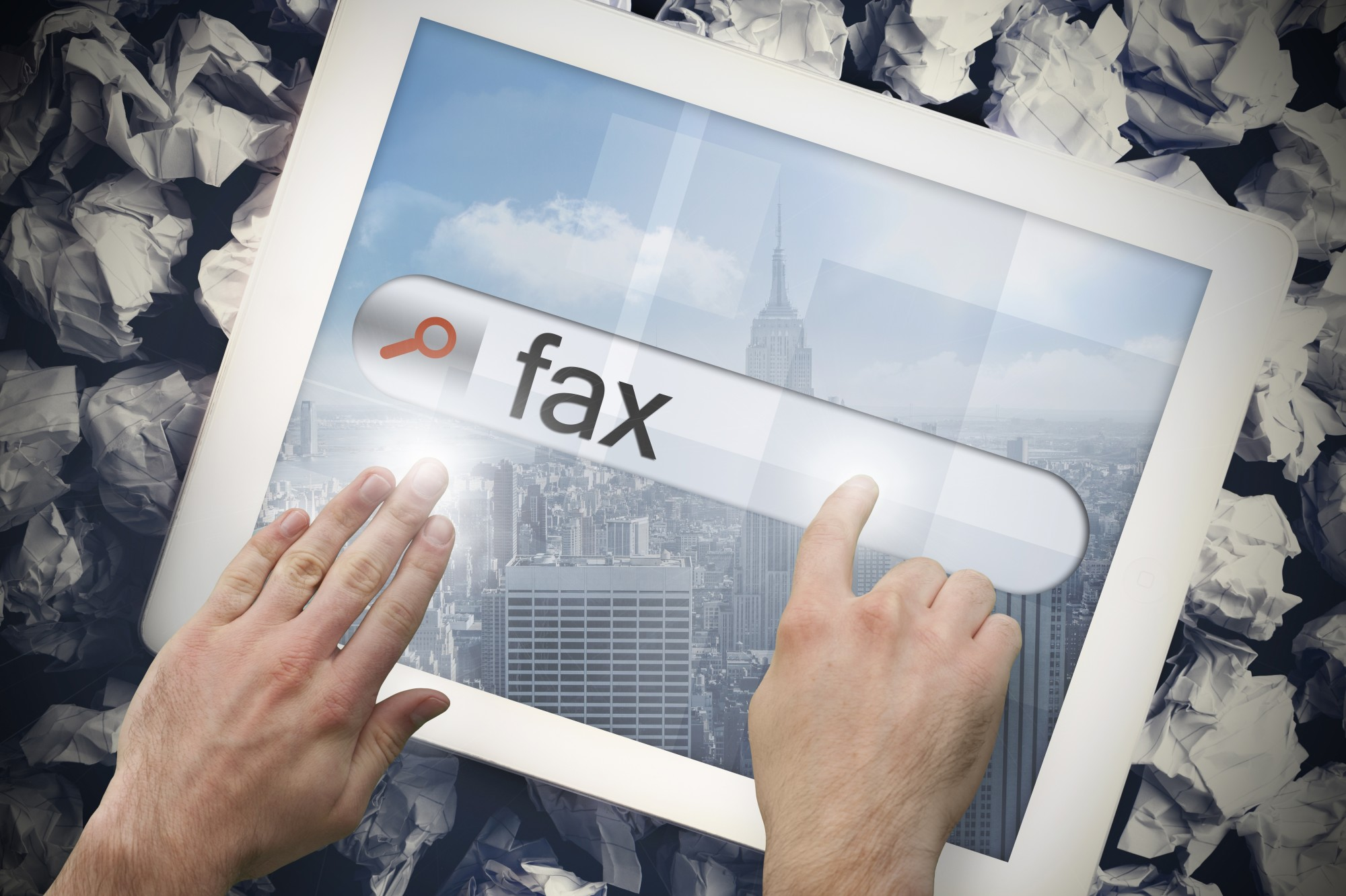 fax on a tablet computer