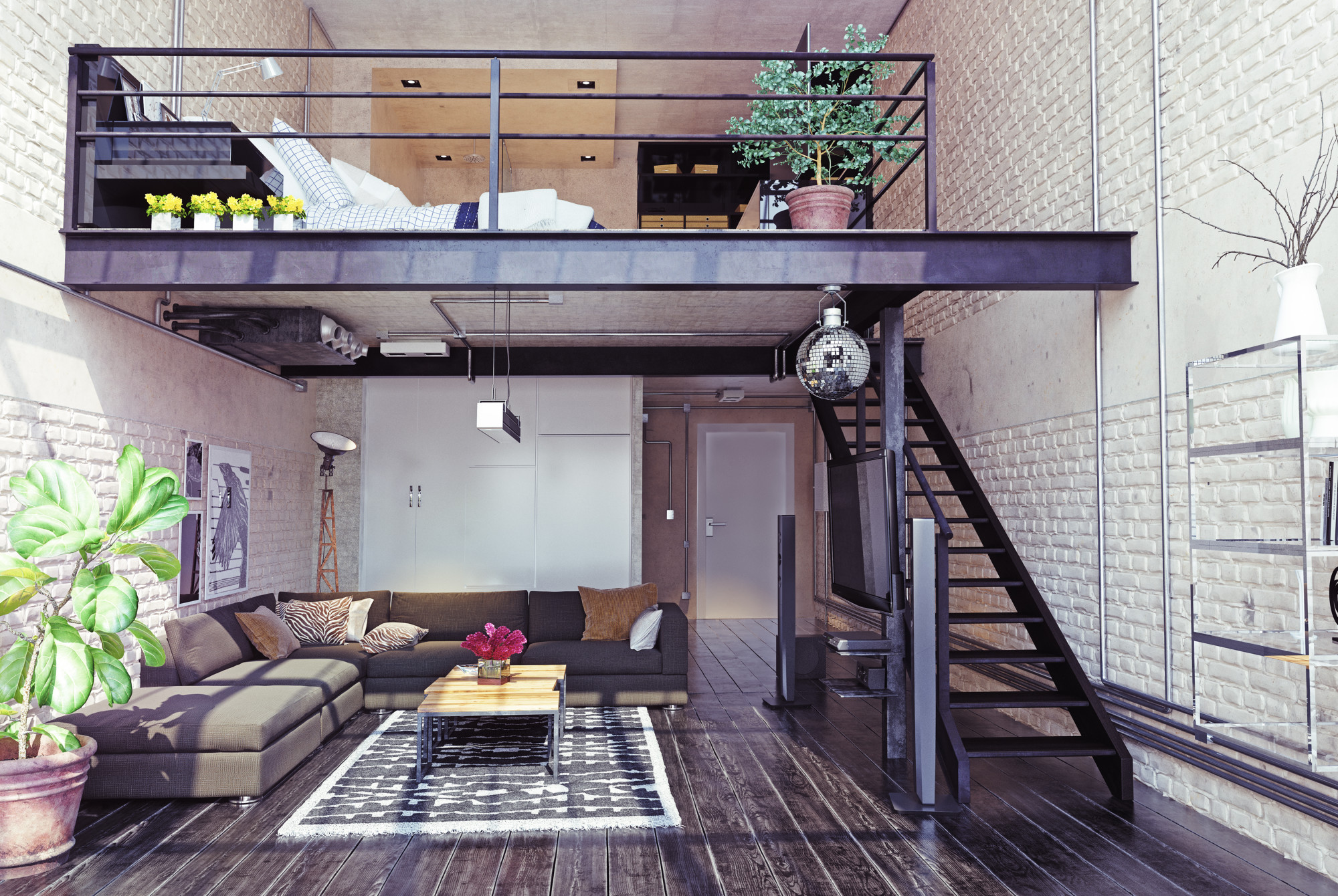 loft above livingroom