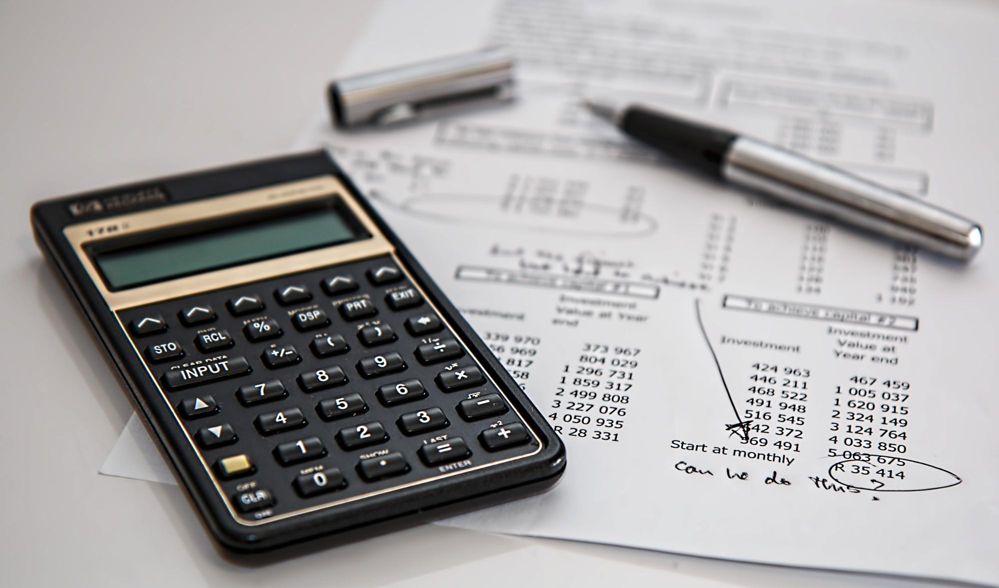 calculator and budget