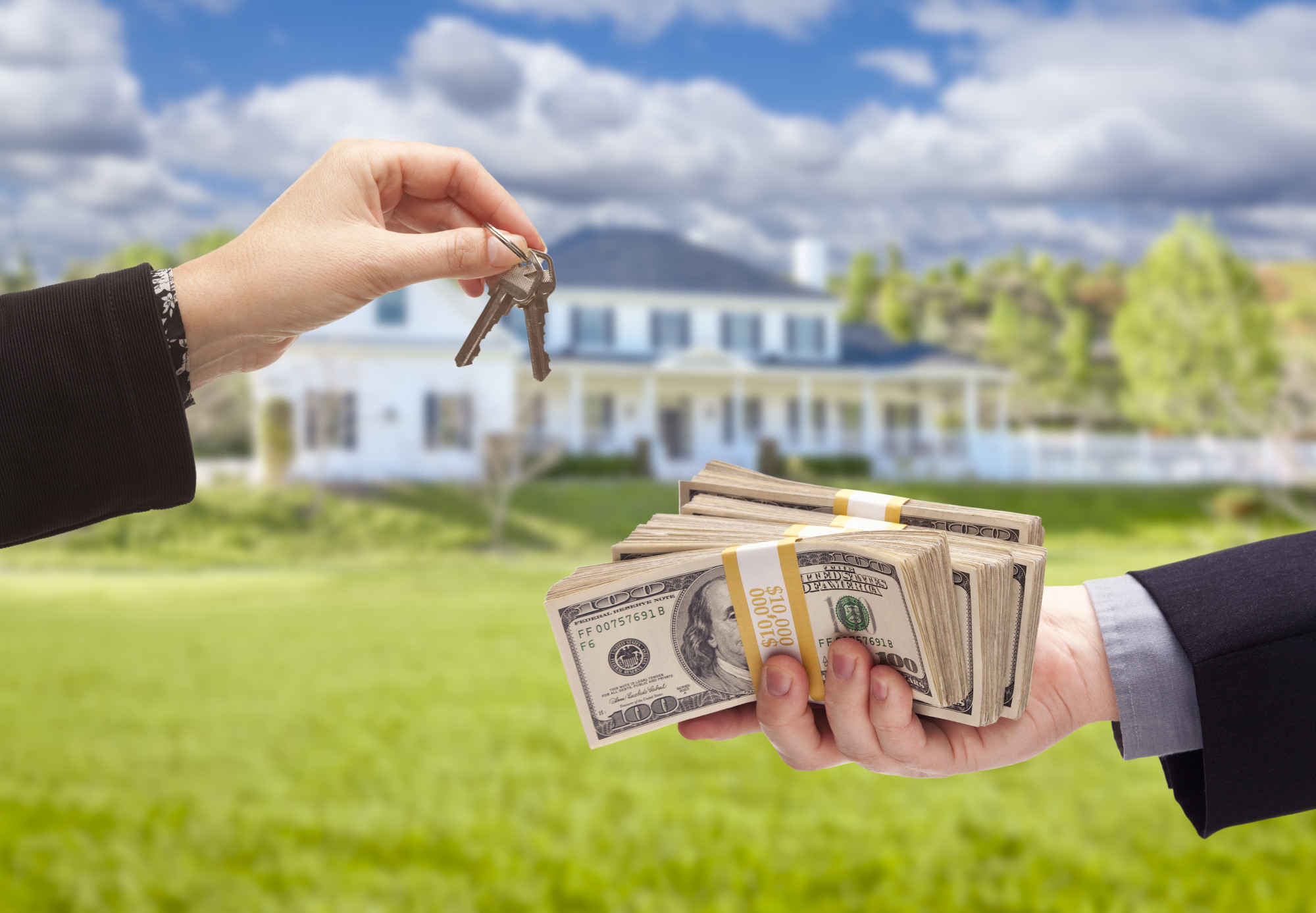 person buying house with cash