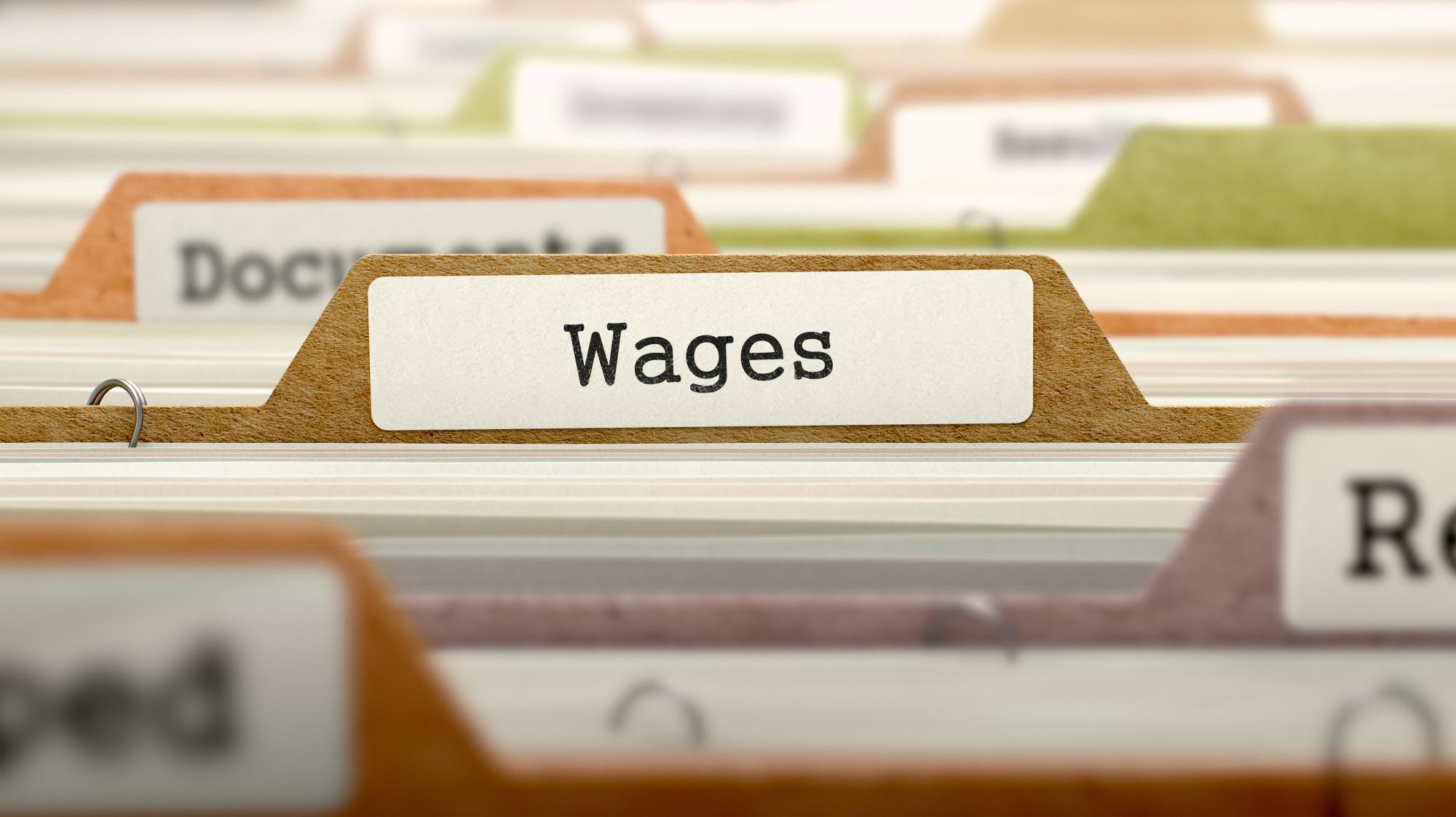 wages folder