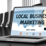 local business marketing on laptop