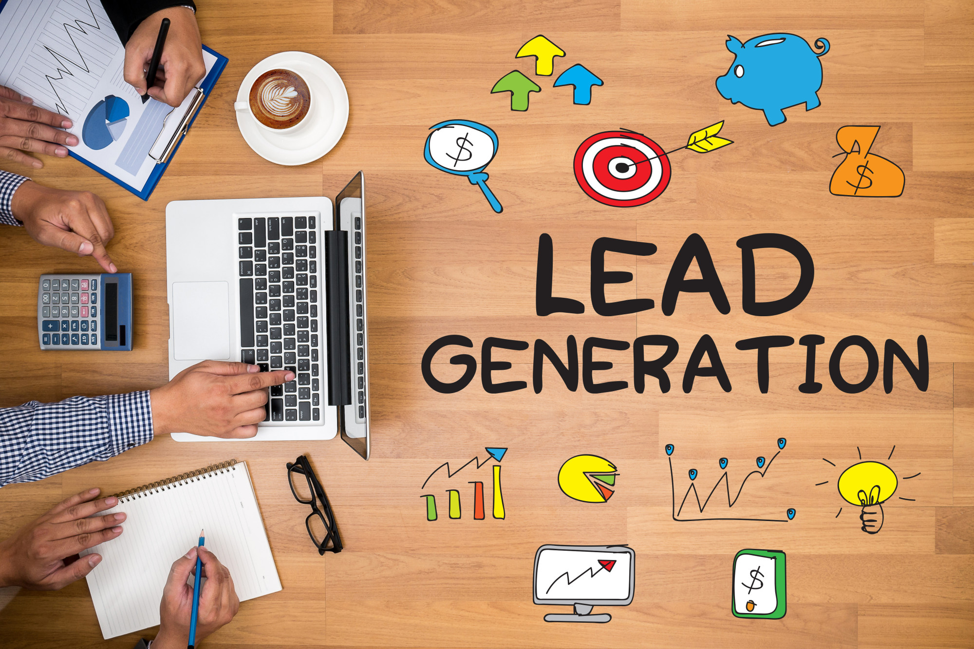 lead generation text and icons