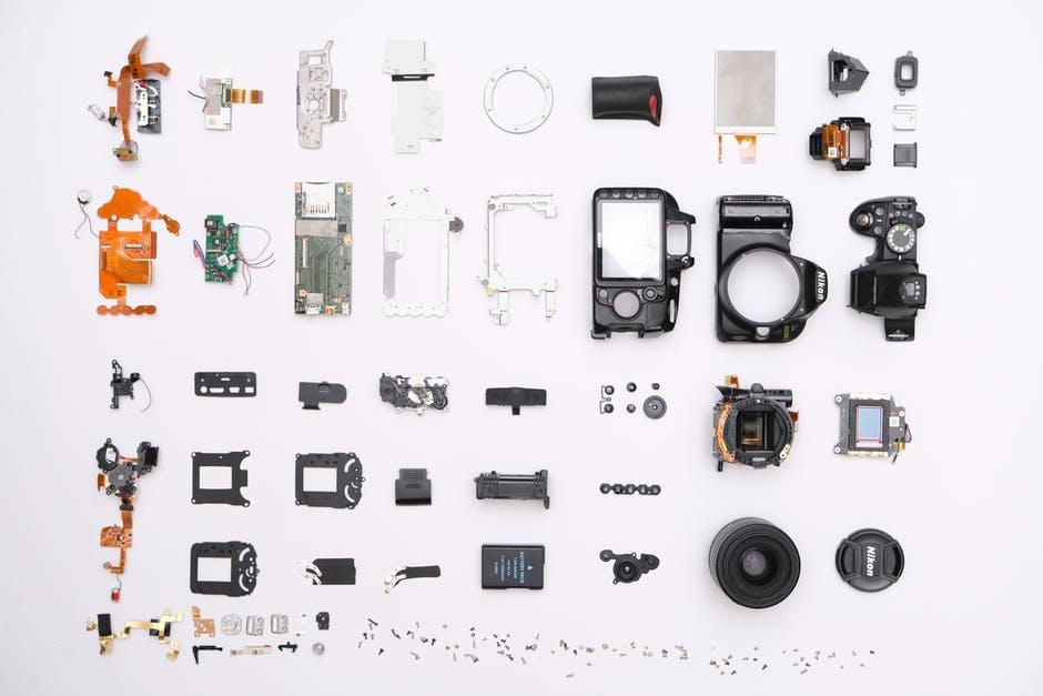 assortment of plastic parts