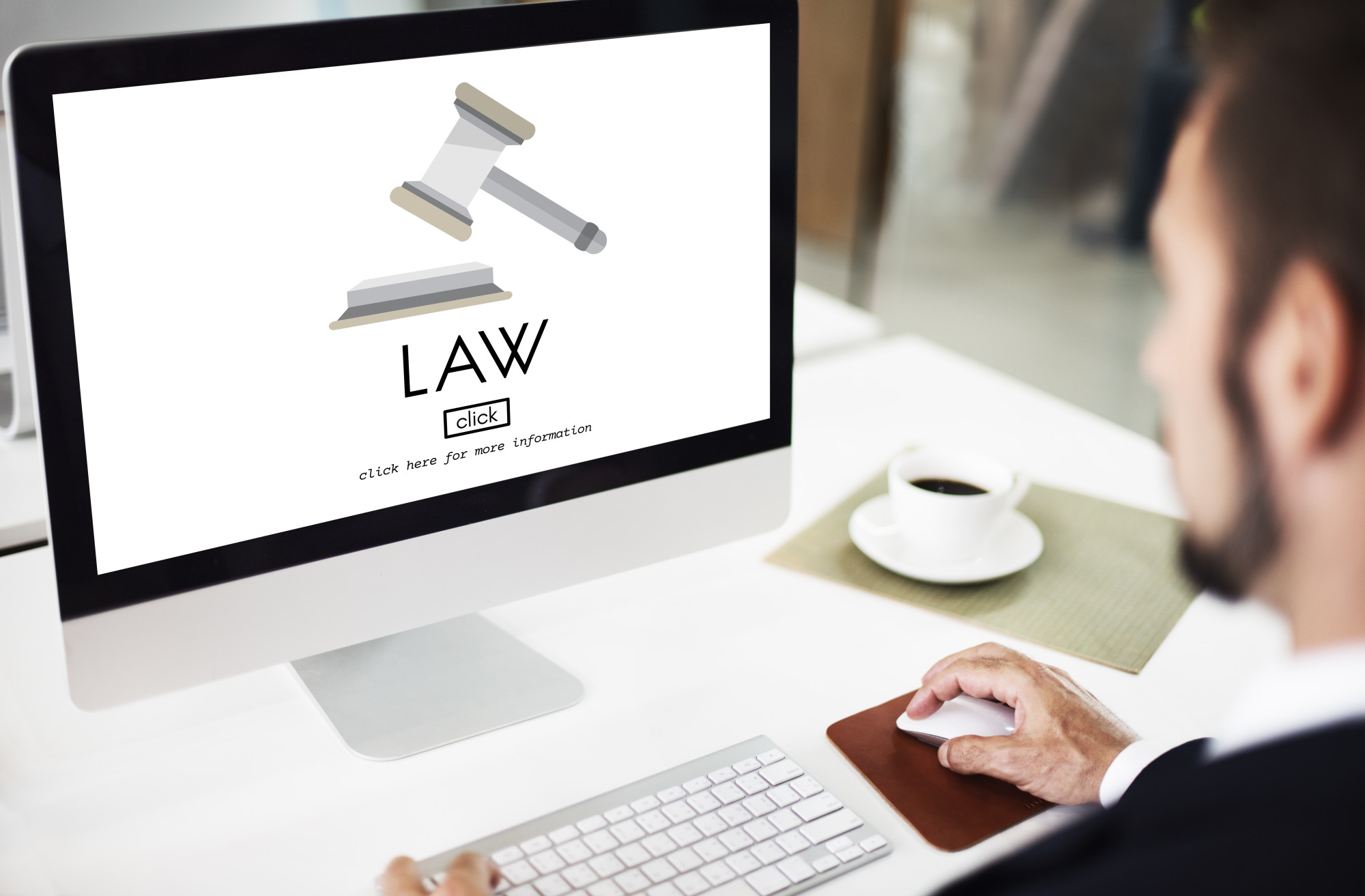 Person Promoting His Law Firm