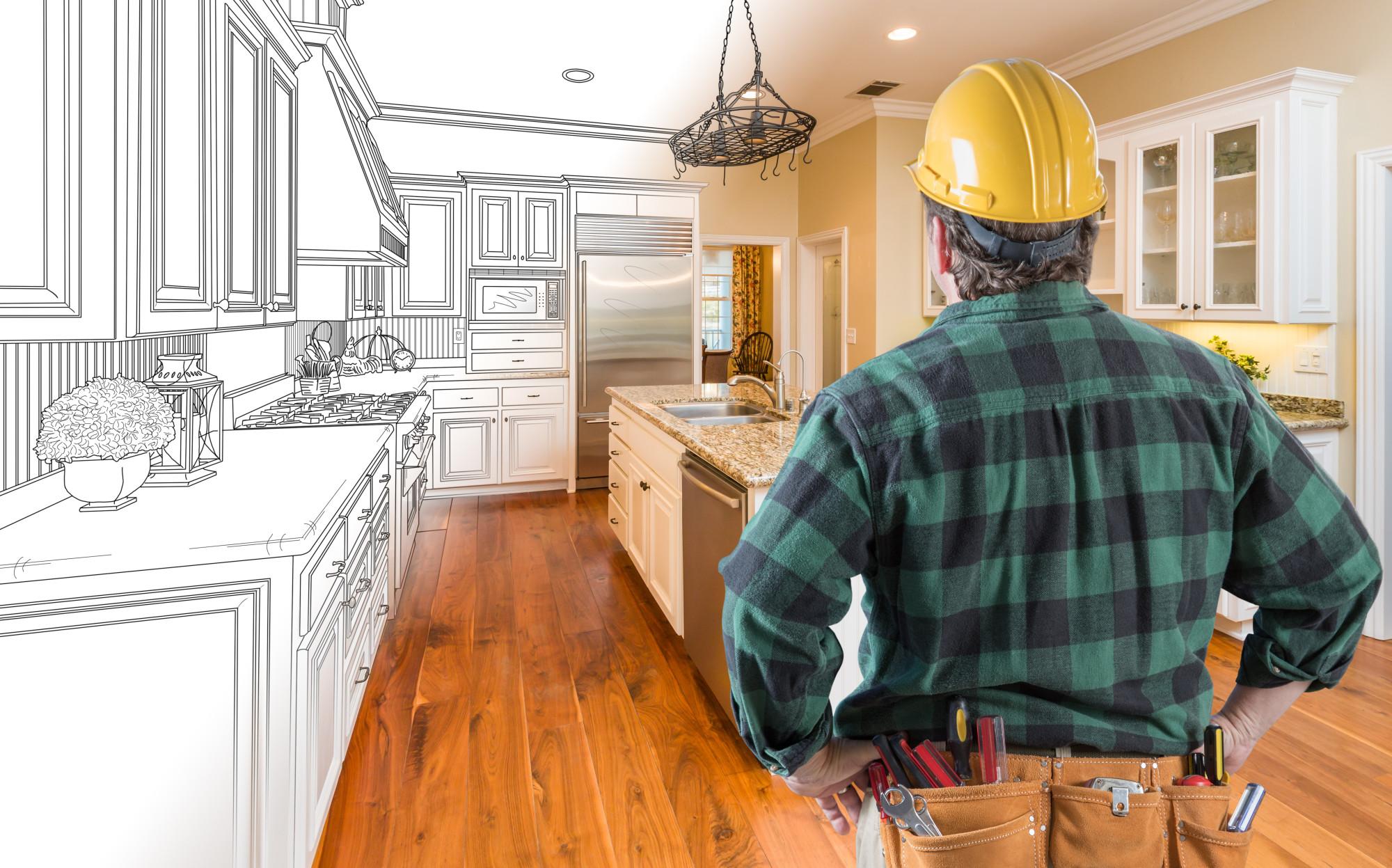 Professional Kitchen Remodeler at Work