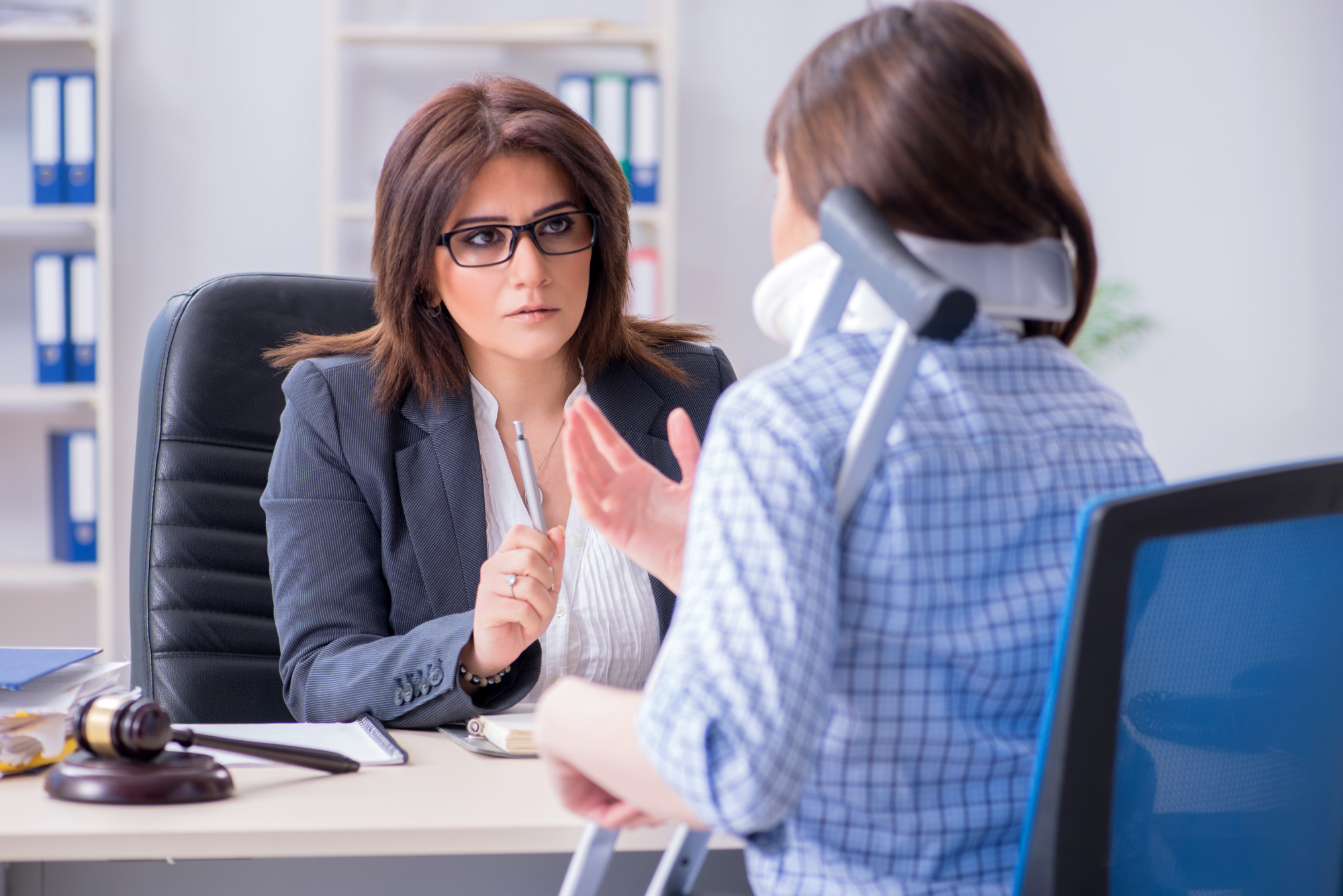 Person Consulting With a Personal Injury Lawyer