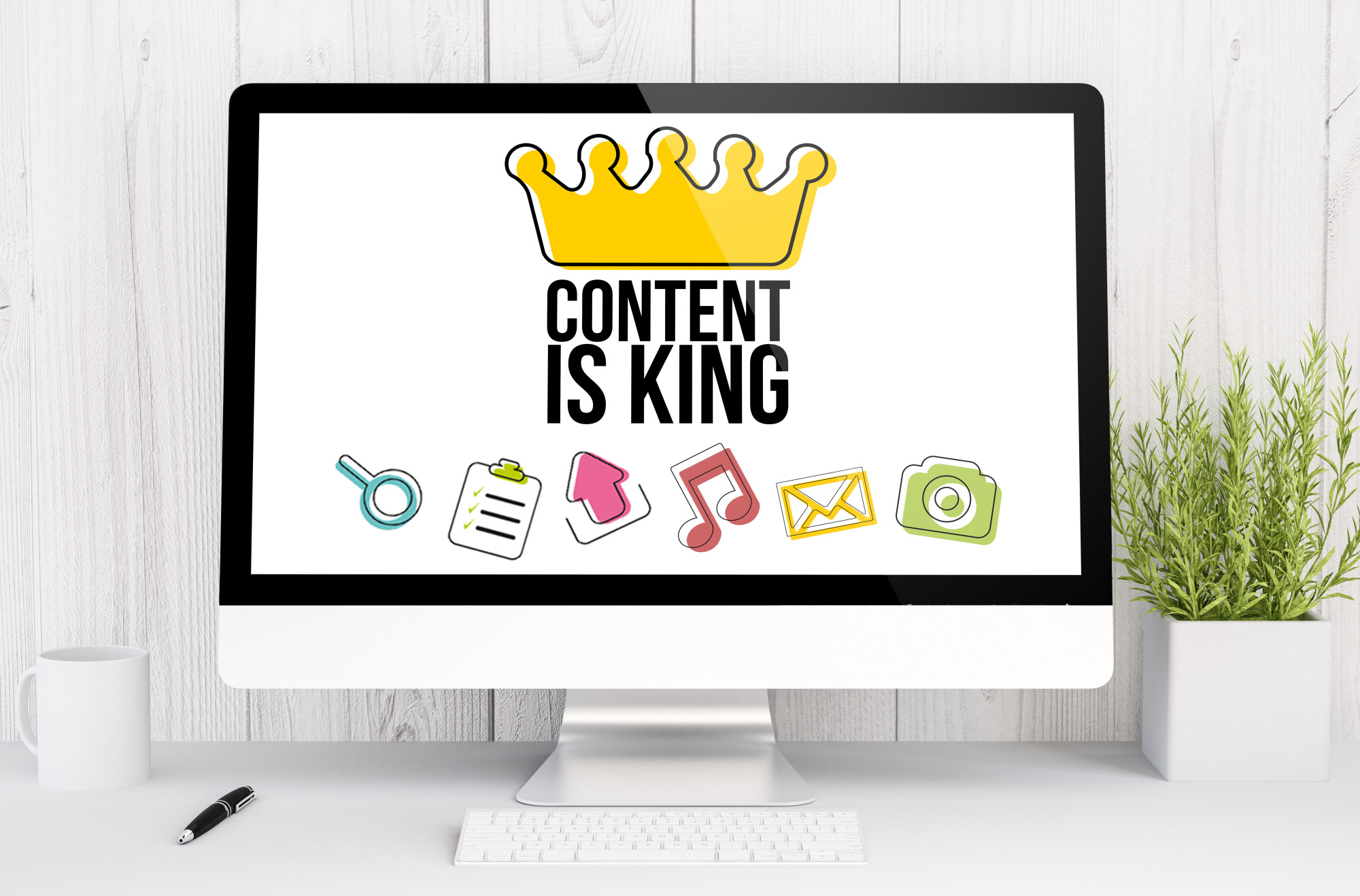 Engaging Content Visualized on a Mac