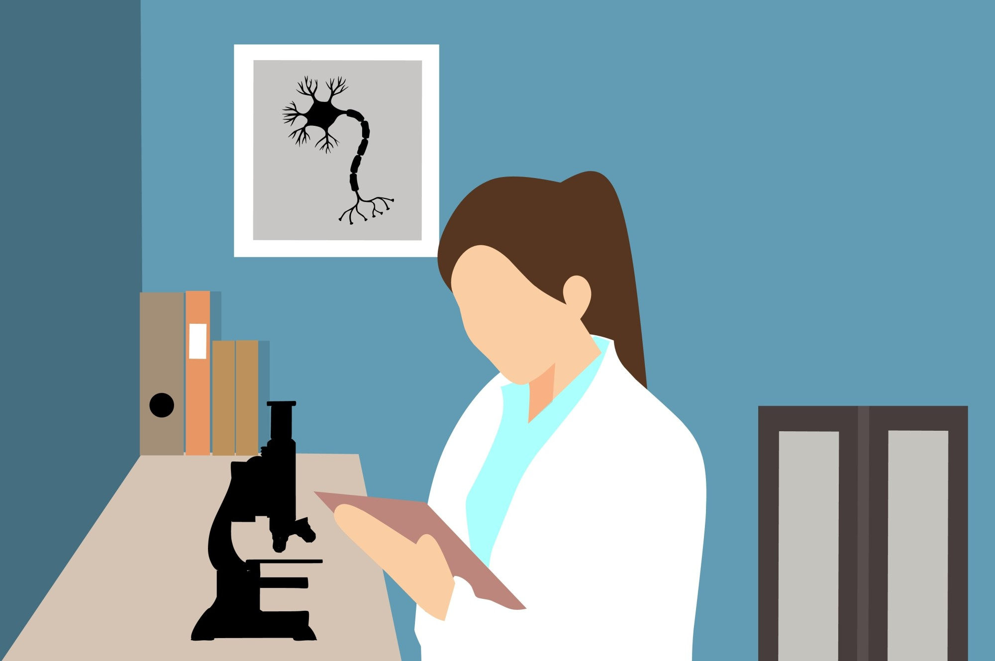 Scientist with laboratory Equipments