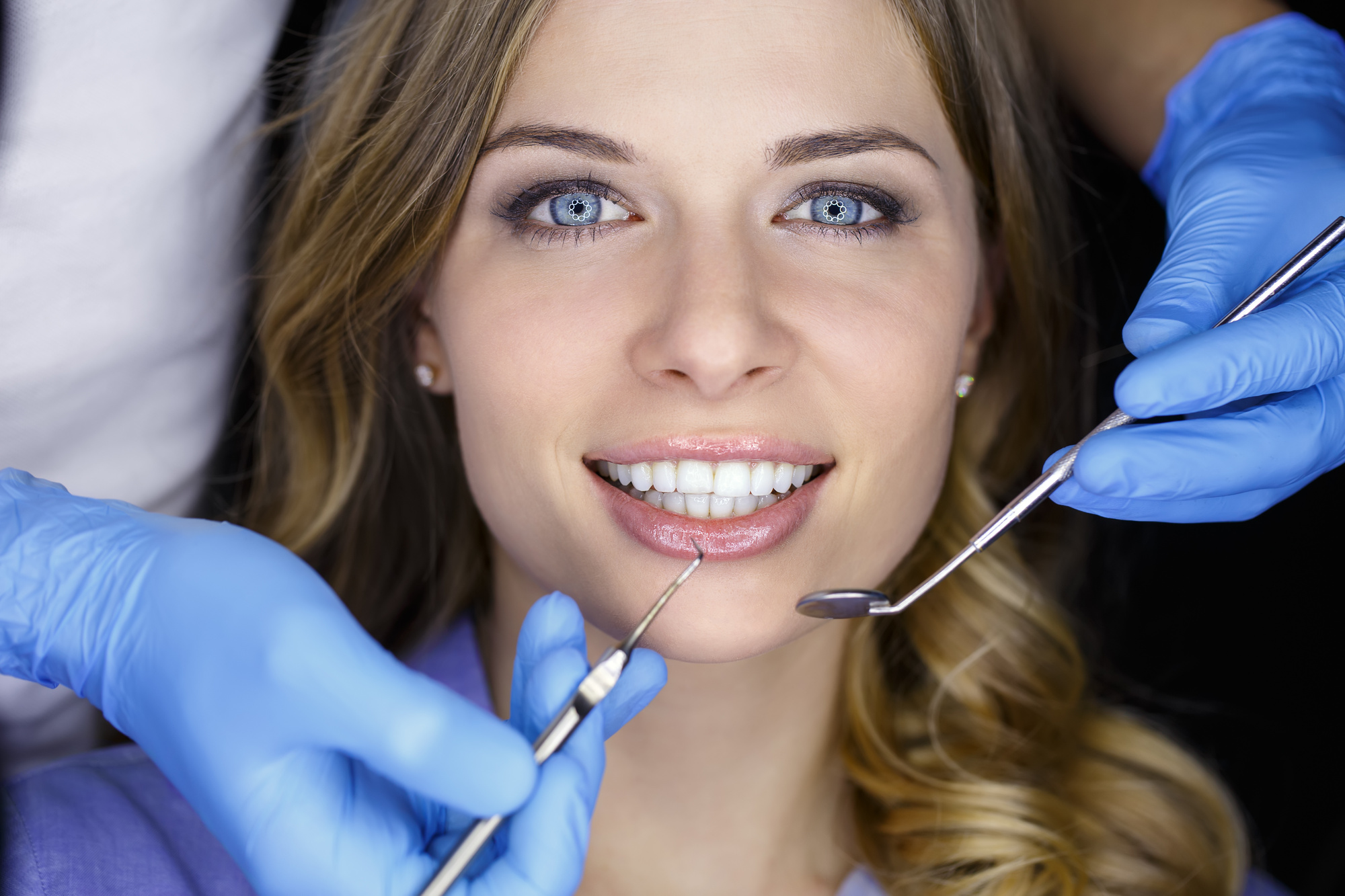 Person Undergoing Dental Procedure