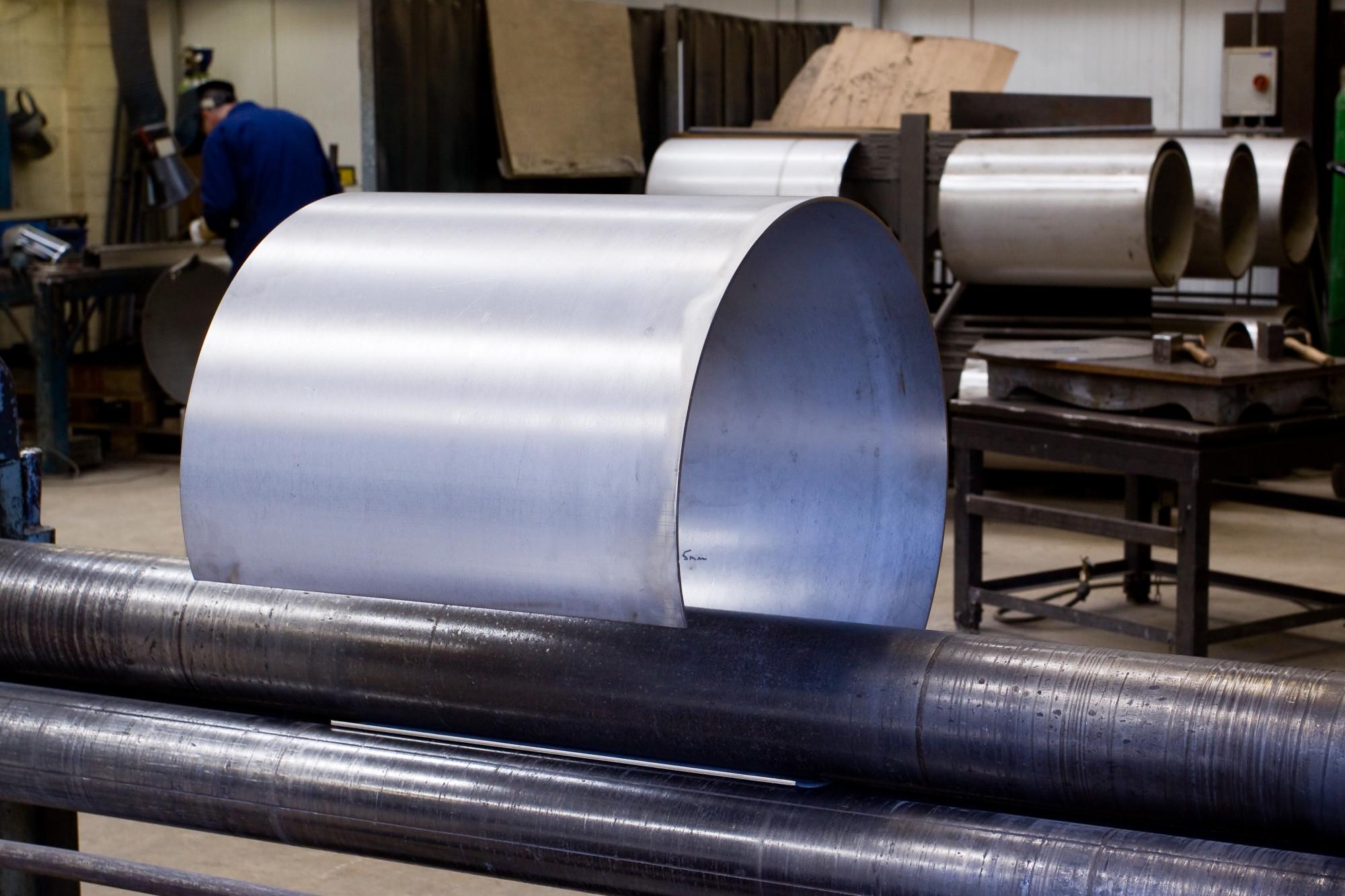 Metal Sheet Being Fabricated