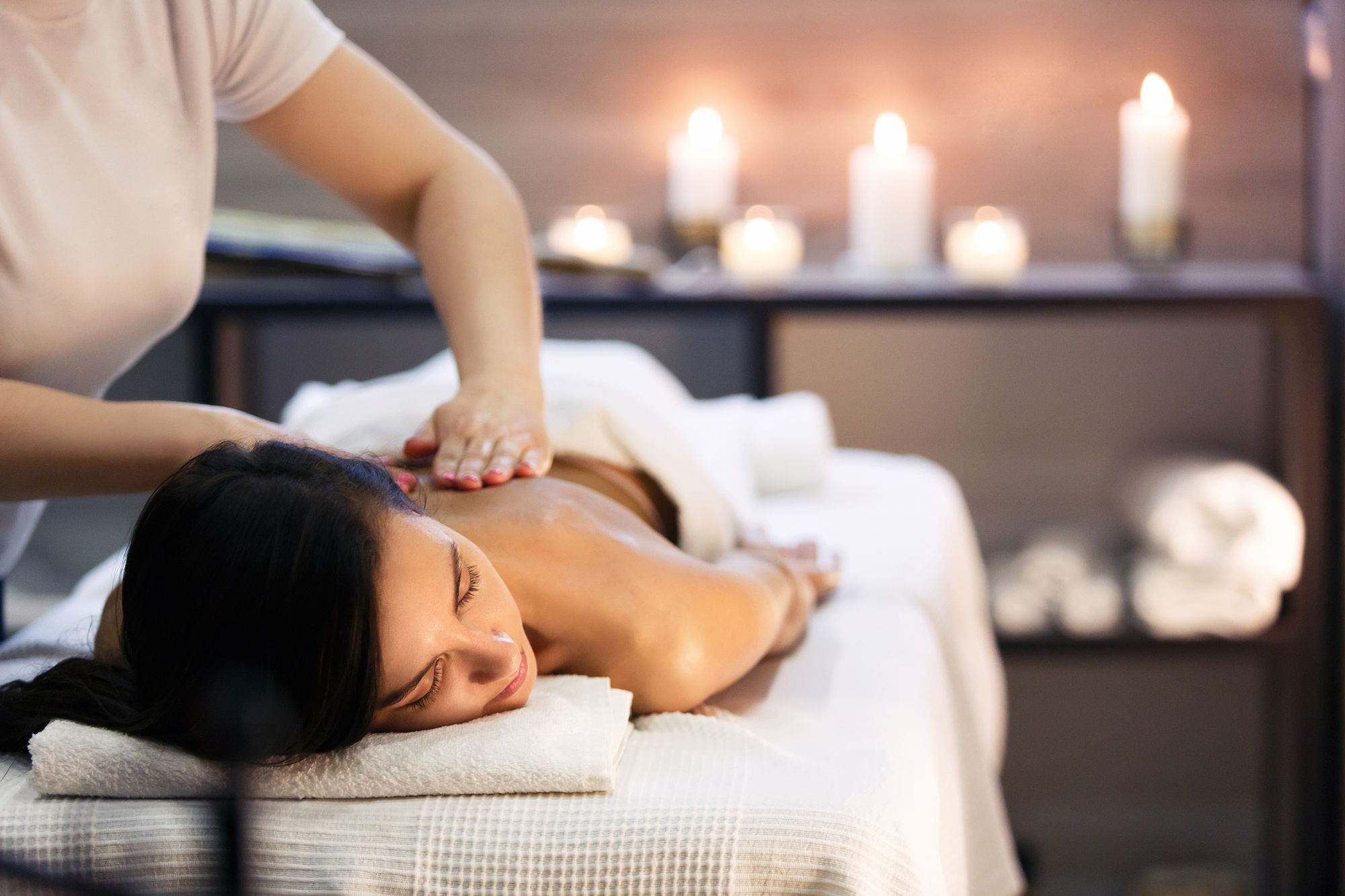Woman Undergoing Full Body Massage